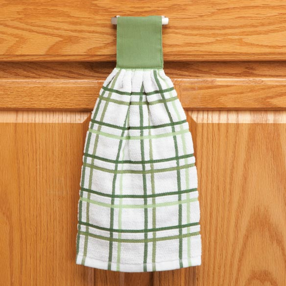 Cotton Hanging Towels - Checked - View 4