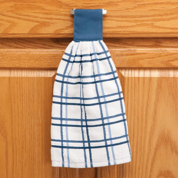 Cotton Hanging Towels - Checked - View 5
