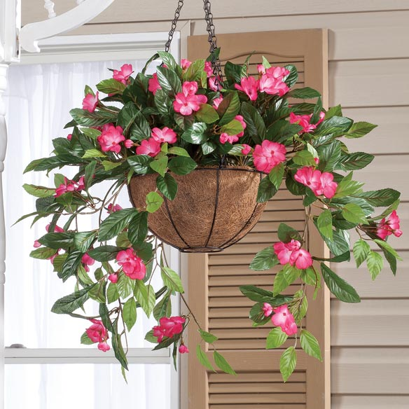 Fully Assembled Impatiens Hanging Basket - View 2