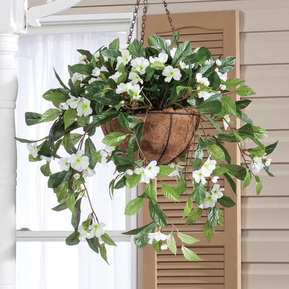Fully Assembled Impatiens Hanging Basket - View 4