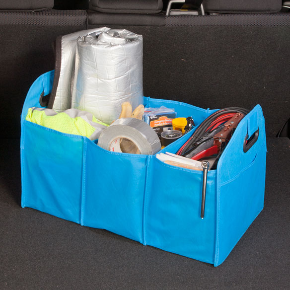 Turquoise Collapsible Trunk Organizer with Cooler - View 2