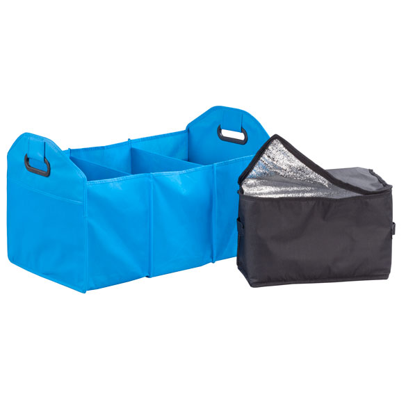 Turquoise Collapsible Trunk Organizer with Cooler - View 3