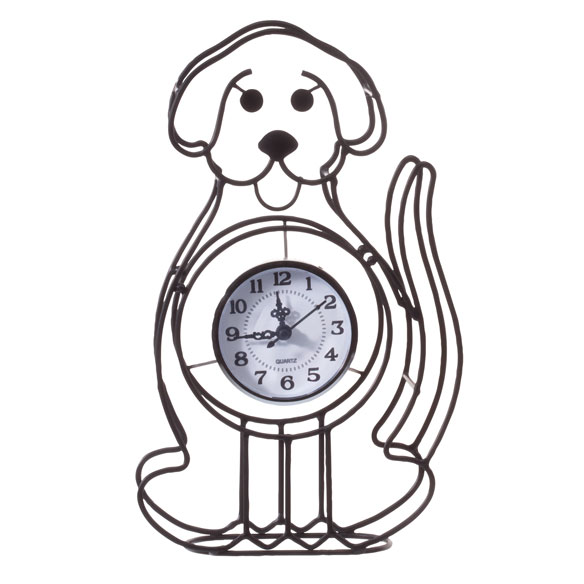 Dog Tabletop Clock - View 2