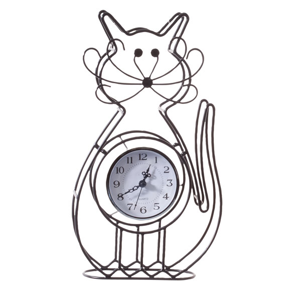 Cat Tabletop Clock - View 2