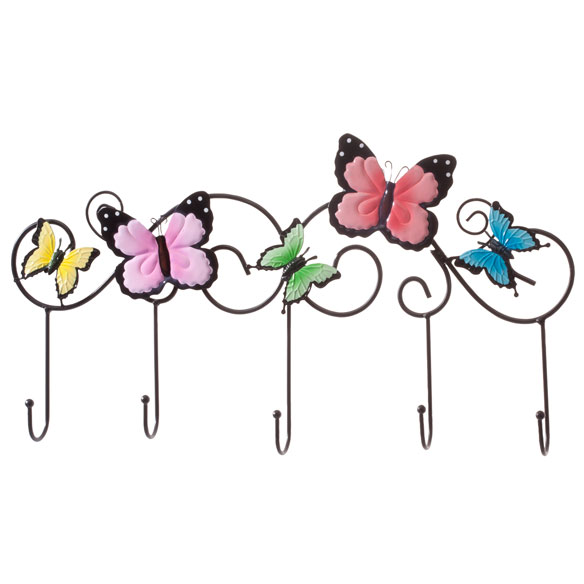 Wall Mount Butterfly Storage Hooks - View 2