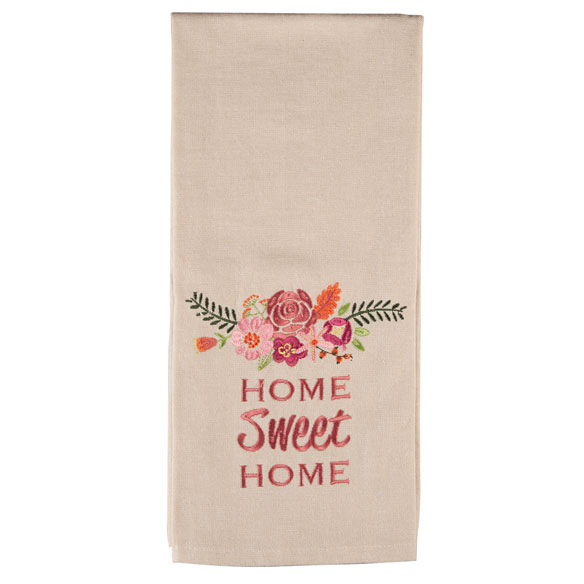 Embroidered Cotton Kitchen Towel - View 2