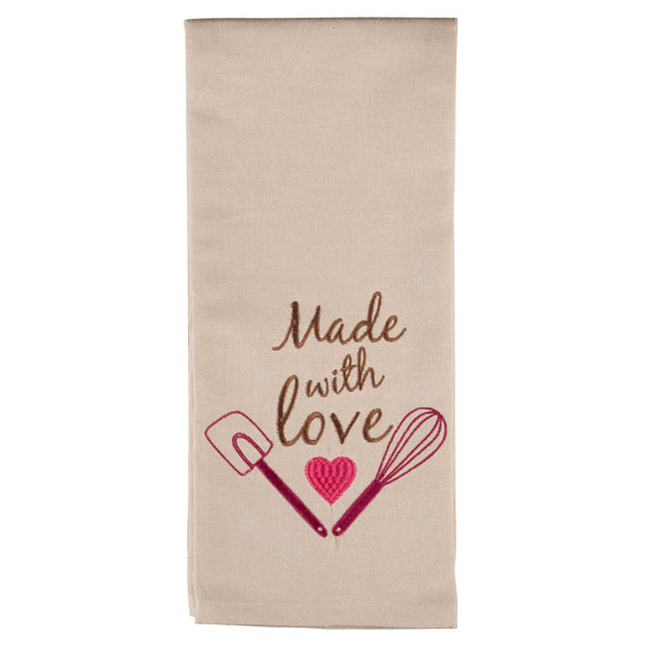 Embroidered Cotton Kitchen Towel - View 3