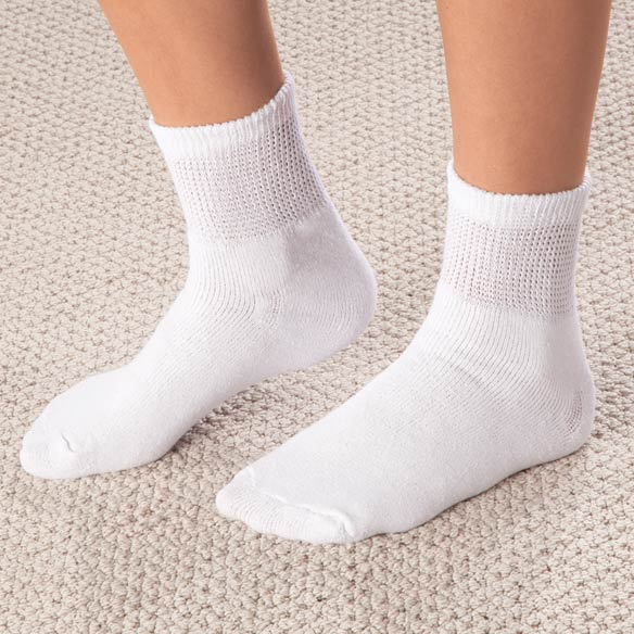 Healthy Steps™ Quarter-Cut Diabetic Socks, 3 Pack - View 4