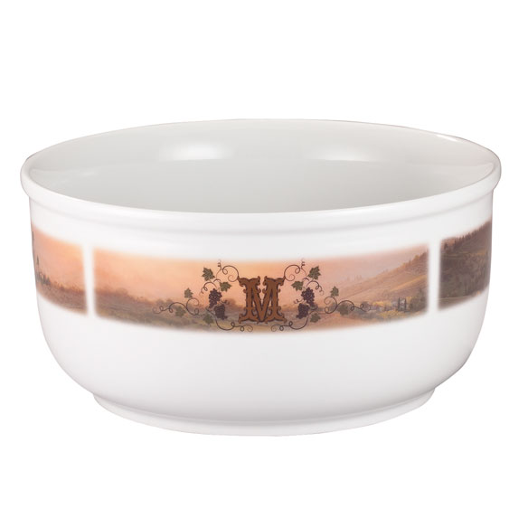Personalized Tuscan Sunset Serving Bowl - View 2