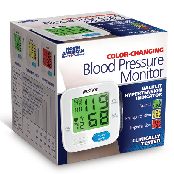 Color Changing Wrist Blood Pressure Monitor - View 4