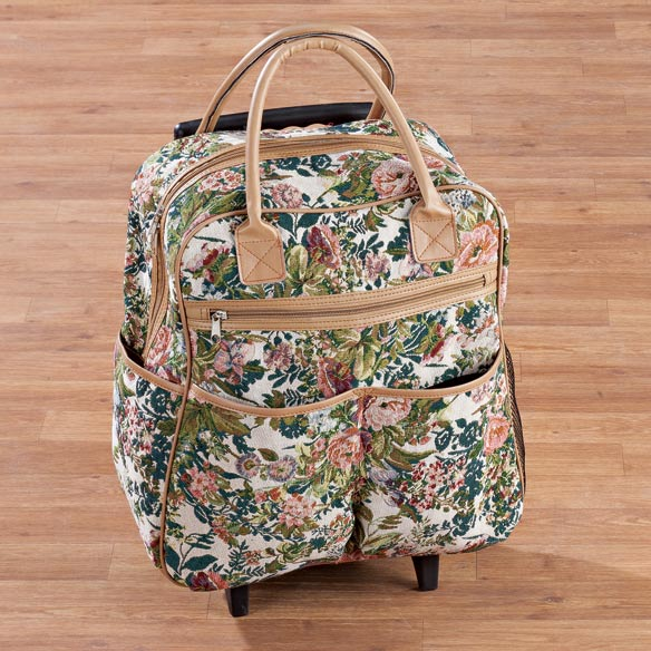 Floral Tapestry Rolling Bag - View 3