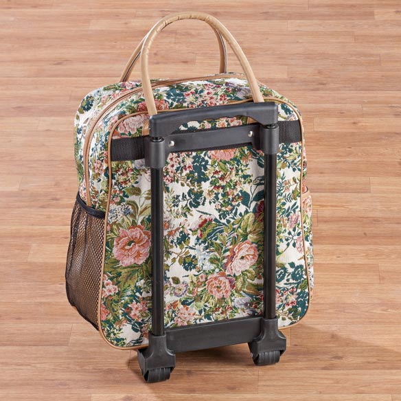 Floral Tapestry Rolling Bag - View 4