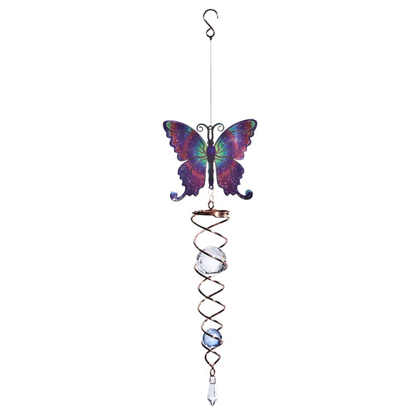 Butterfly Crystal Wind Spinner - View 2