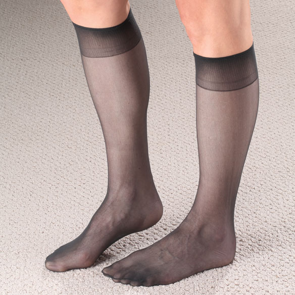 Knee High Nylons with Dispenser Box, 15 pr. - View 2