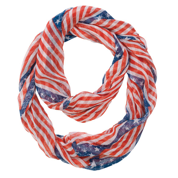 American Flag Infinity Scarf - View 2