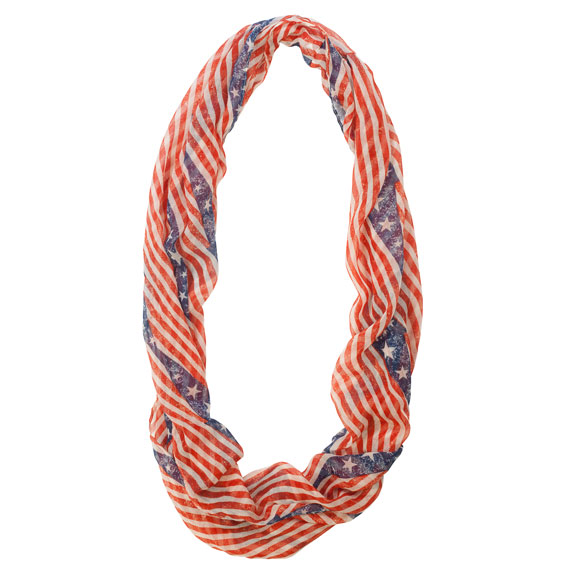 American Flag Infinity Scarf - View 3