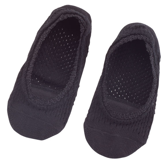 Lace Trim Cushioned Foot Liners, 1 pr. - View 3