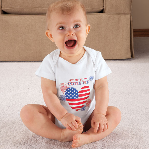 "Personalized ""4th of July Cutie Pie"" Onesie - View 2"