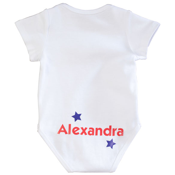 "Personalized ""4th of July Cutie Pie"" Onesie - View 3"