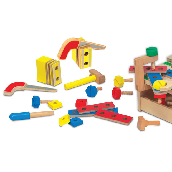 Melissa & Doug® Hammer & Saw Tool Bench - View 3