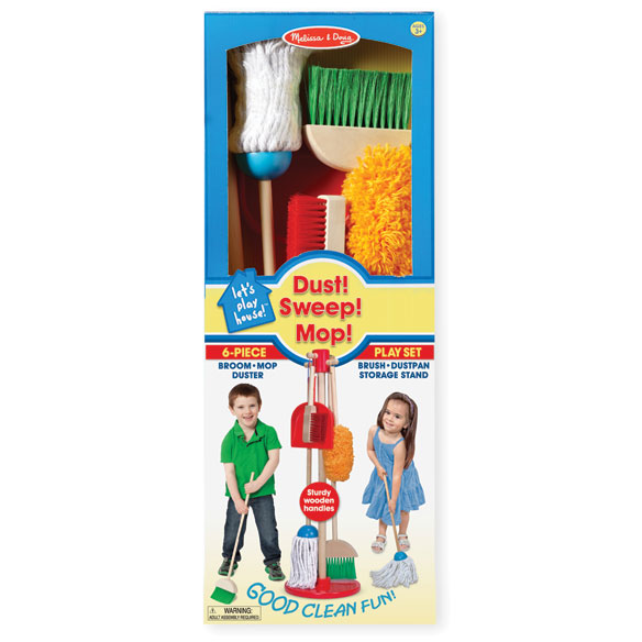 Melissa & Doug® Let's Play House! Dust, Sweep & Mop Set - View 4