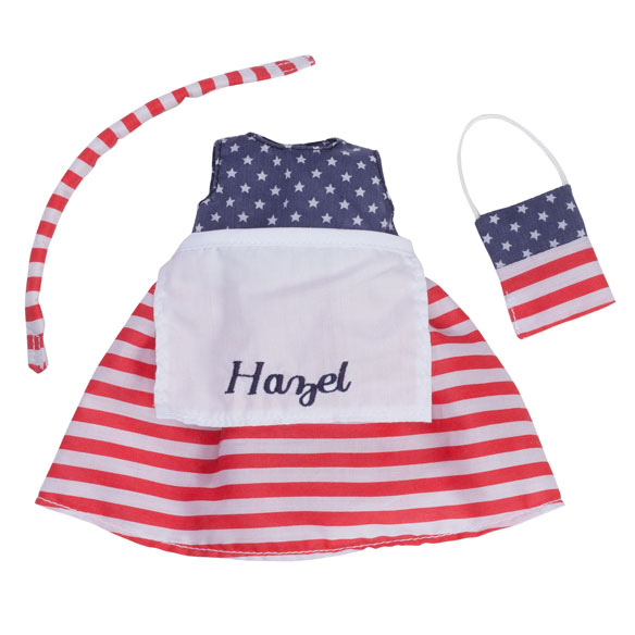 Personalized Little Sister Patriotic Dress - View 2