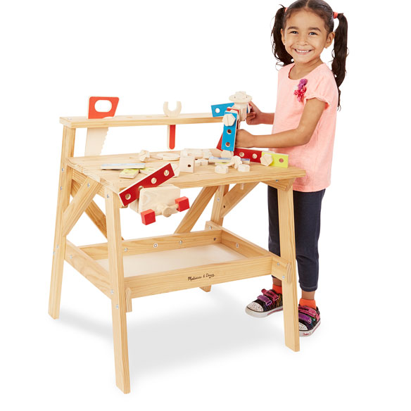 Melissa & Doug® Wooden Project Workbench - View 2