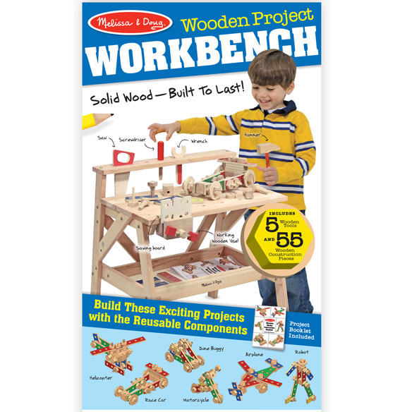 Melissa & Doug® Wooden Project Workbench - View 4