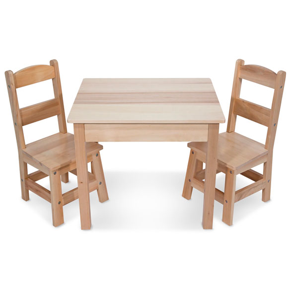 Melissa & Doug® Wooden Table & Chairs 3-Pc. Set - View 2