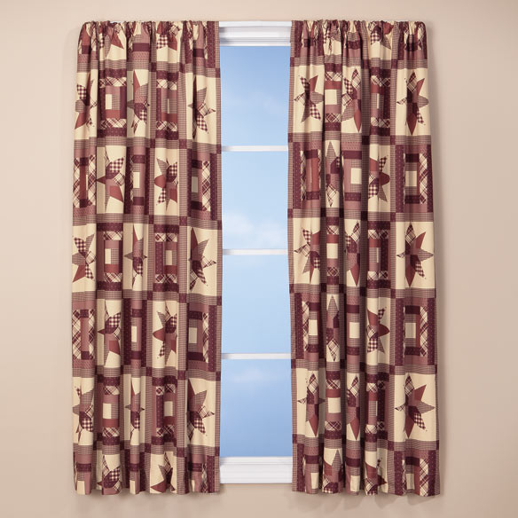 Star Quilt Print Energy Saving Curtains - View 2