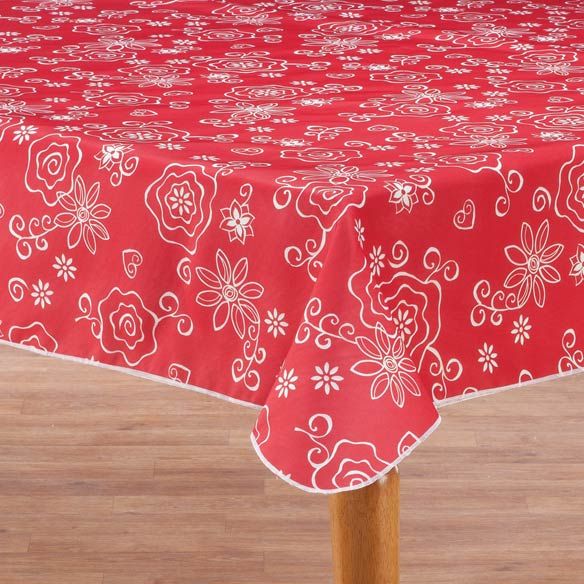 Fanciful Flowers Vinyl Tablecovers - View 2