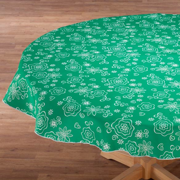 Fanciful Flowers Vinyl Tablecovers - View 3