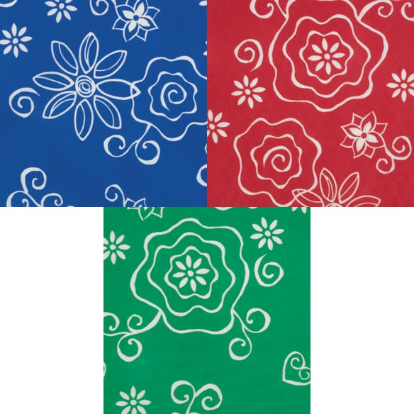 Fanciful Flowers Deluxe Picnic Tablecover - View 2