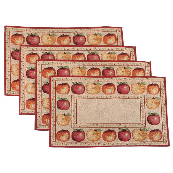 Apples Placemats, Set of 4 - View 2