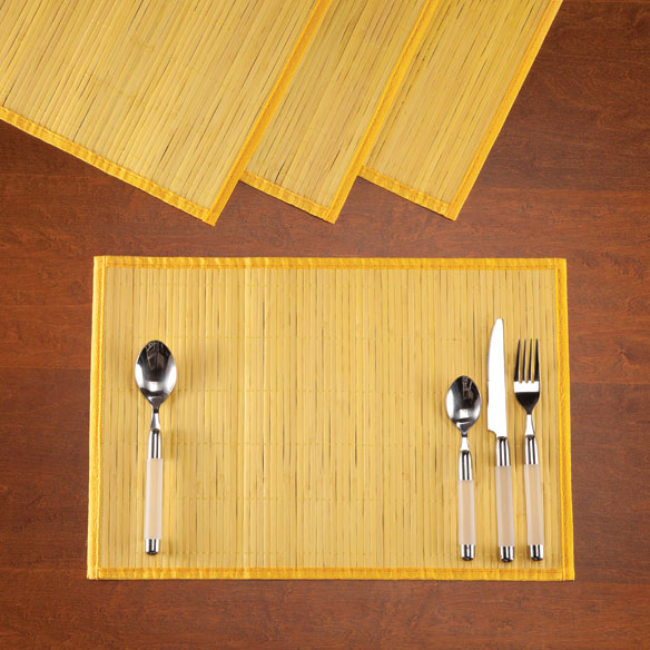 Bamboo Placemats, Set of 4 - View 4
