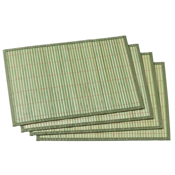 Striped Bamboo Placemats, Set of 4 - View 5