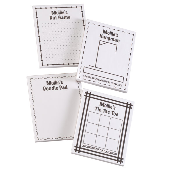 Personalized Activity Note Pads, Set of 4 - View 2