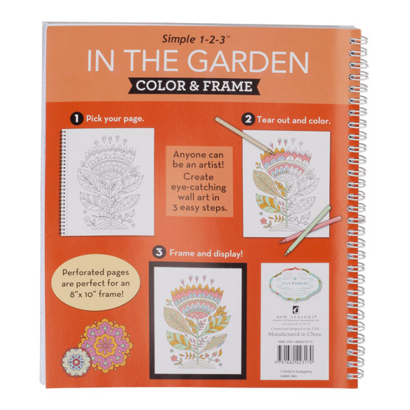 Adult Color & Frame Garden Coloring Book - View 3