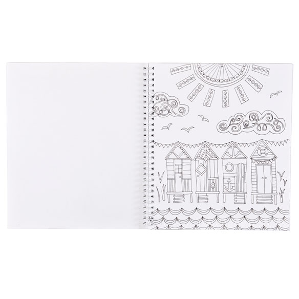 Adult Color & Frame Sea Coloring Book - View 2