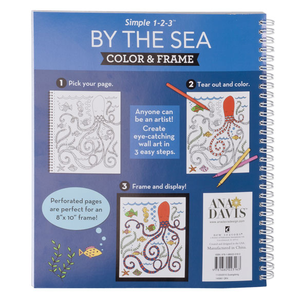 Adult Color & Frame Sea Coloring Book - View 3