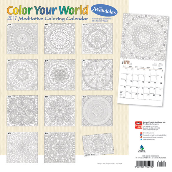 """Color Your World"" Coloring Calendar - View 2"