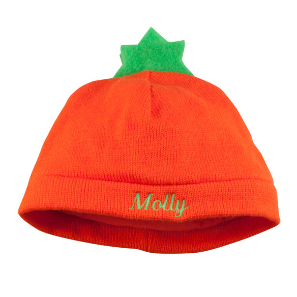 Personalized Pumpkin Baby Hat - View 2