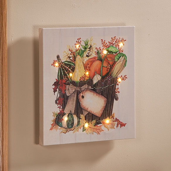 Personalized Lighted Harvest Canvas by Northwoods Illuminations™ - View 2