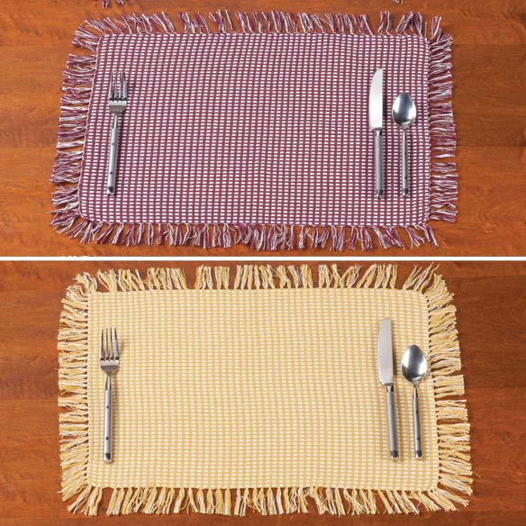 Homespun Woven Placemats, Set of 4 - View 2