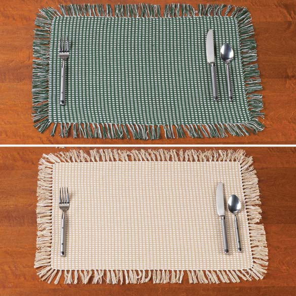 Homespun Woven Placemats, Set of 4 - View 3