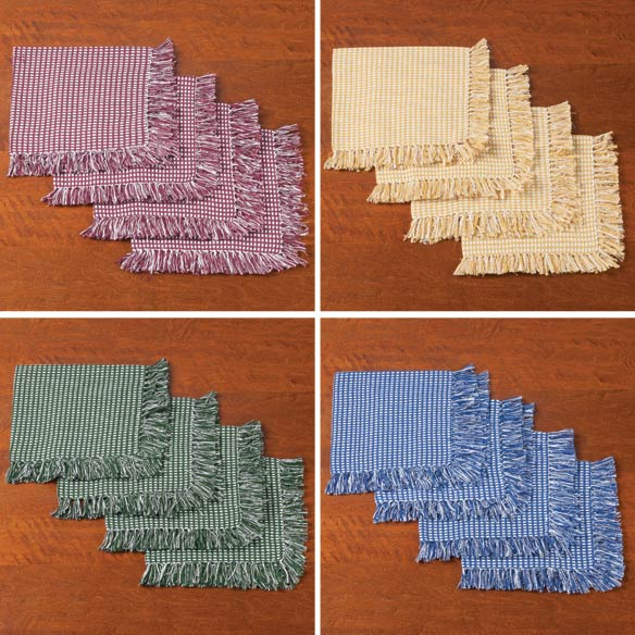 Homespun Woven Napkins, Set of 4 - View 2