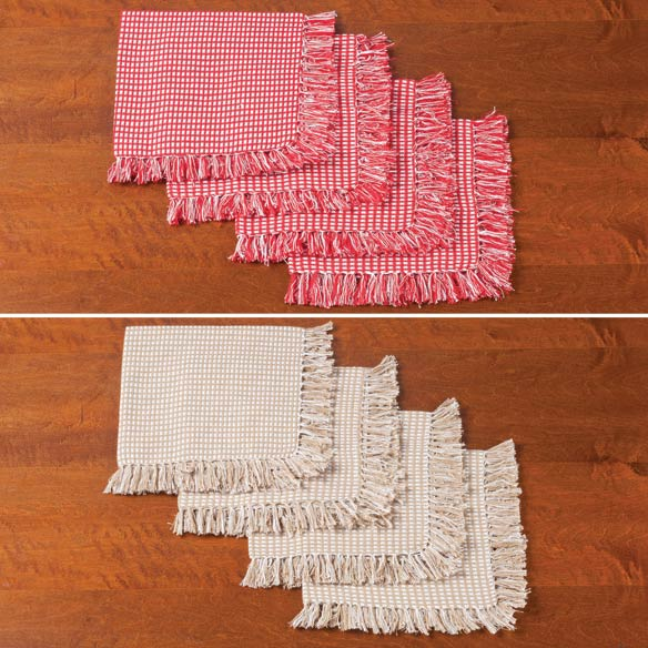 Homespun Woven Napkins, Set of 4 - View 3