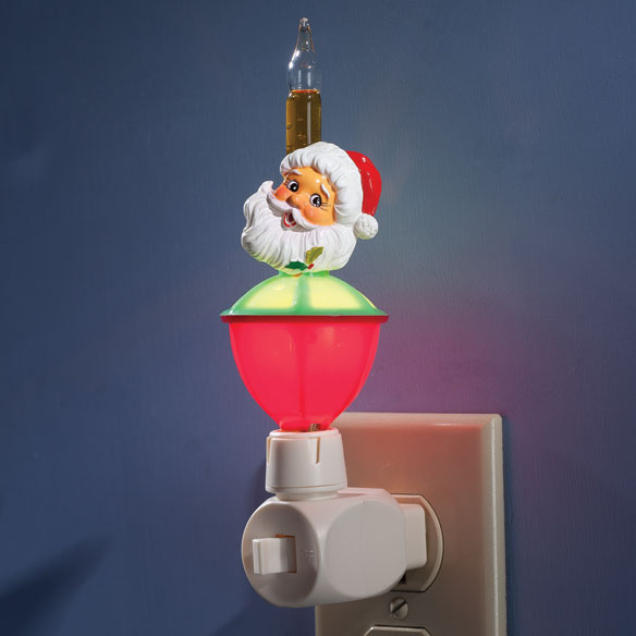 Christmas Bubble Night Light with Interchangeable Clips - View 3