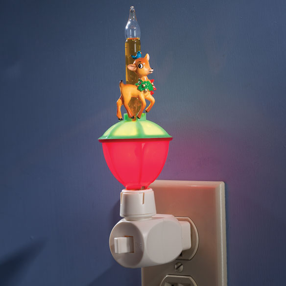 Christmas Bubble Night Light with Interchangeable Clips - View 4