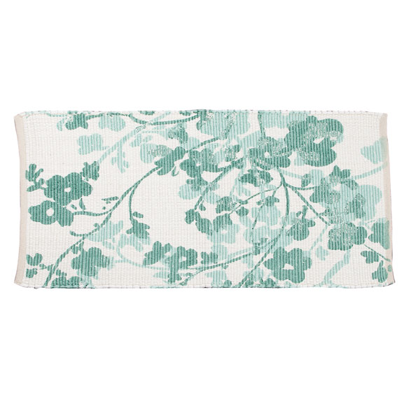 Floral Print Accent Rug - View 2